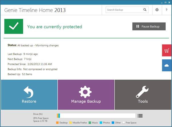 "Genie Timeline Home 2013 – 文件备份软件丨""反""斗限免"