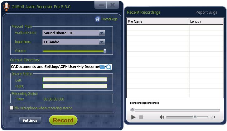 2013 11 18 151611 - GiliSoft Audio Recorder Pro (24 Saat Kampanya)