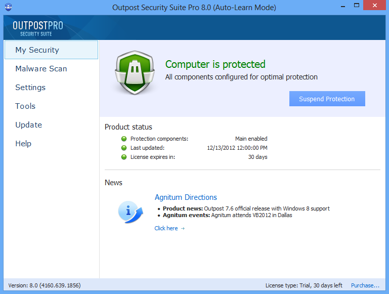 Outpost Security Suite Pro ends in 15 hours 00 mins 1-user 1-year license,  ...