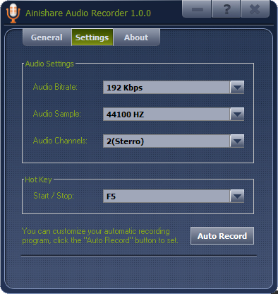 Ainishare Audio Recorder,بوابة 2013 ainishare_audio_reco