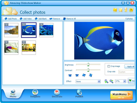 amazing_slideshow_maker_main_interface