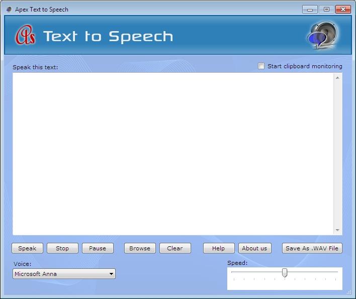 Free Apex Text to Speech (100% discount)   SharewareOnSale